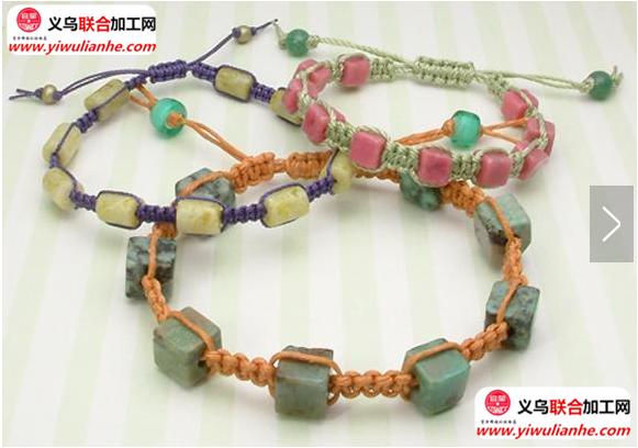 手工编织串珠手链编织方法(图解)编织怎么编?