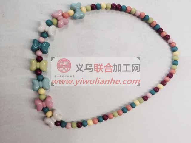 大量简单项链串珠子手工活【发外地】